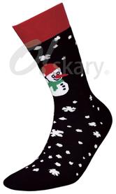 Men's terry socks, model SNOWMAN