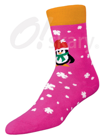 Women's terry socks, model PENGUIN