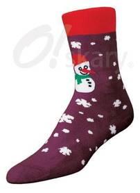 Women's terry socks, model SNOWMAN