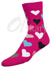 Women's socks, model HEARTS