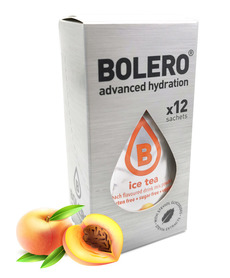 BOLERO ICE TEA peach flavored sugar-free drink 12 pcs