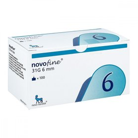 NOVOFINE 6, needles 31Gx 6mm