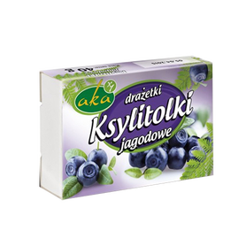 Xylitol sweet dragees - blueberry, no sugar