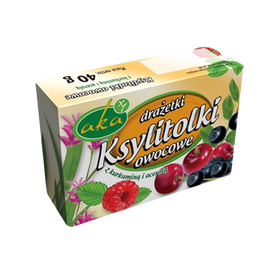 Xylitol sweet dragees - fruits flavor, no sugar