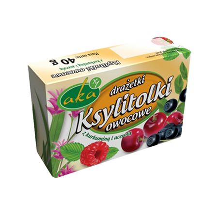 Xylitol sweet dragees - fruits flavor, no sugar (1)