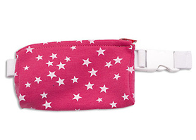 Belt with case for diabetic pump - white stars