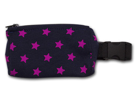 Belt with case for diabetic pump - pink stars