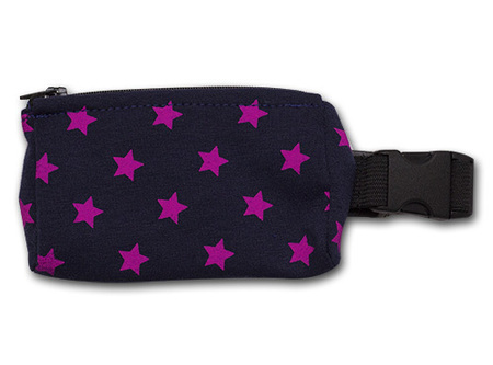 Belt with case for diabetic pump - pink stars (1)