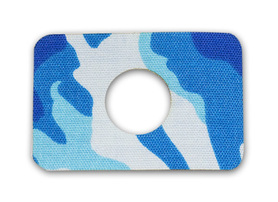 Freestyle Libre tapes with hole - blue waves