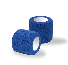 Adhesive bandages blue 1 roll / width 5 cm