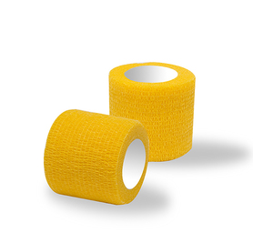 Adhesive bandages yellow 1 roll / width 5 cm