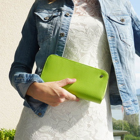 Exclusive handbag for woman LIGHT GREEN