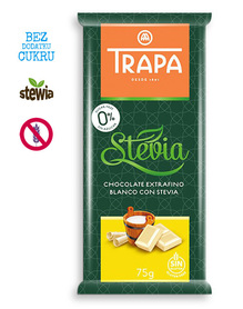 Trapa - white chocolate, no sugar added, gluten free