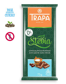 Trapa - milk chocolate, no sugar added, gluten free