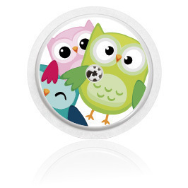 Libre sensor sticker - Owls
