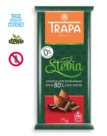 Trapa - bitter chocolate, no sugar added, gluten free