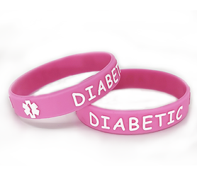 Wristband pink for kids DIABETIC