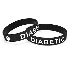 Wristband DIABETIC black for adults