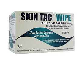 Skin Tac barrier wipes box with 50 pcs