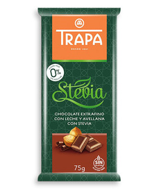 Trapa milk chocolate with nuts, no sugar added, gluten free