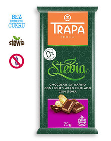 Trapa milk & crunchy chocolate, no sugar added, gluten free