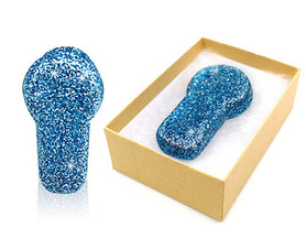 MiaoMiao 2 blue glitter reusable cover