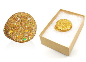 Freestyle Libre gold glitter reusable cover
