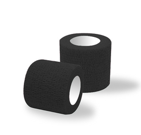 Adhesive bandages 1 roll black classic / width 5 cm