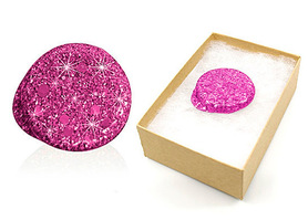 Freestyle Libre pink glitter reusable cover