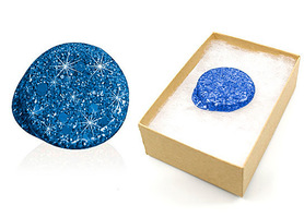 Freestyle Libre blue glitter reusable cover