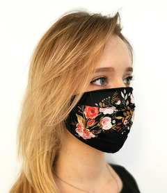 Reusable protective mask Flowers