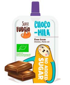 Krem mleczna czekolada w tubce Super Fudgio bez dodatku cukru, ekologiczny produkt bezglutenowy i bez oleju palmowego, słodzony erytrolem
