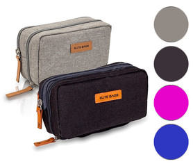 Izotermiczny piórnik dla diabetyka. Idealny do przenoszenia wszystkich przedmiotów diabetyka oraz medykamentów. Kolor czarny, szary, niebieski i różowy.