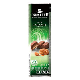 Premium Cavalier bar belgian milk chocolate with caramel filling