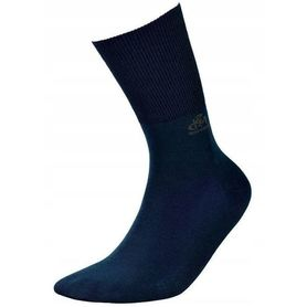 Socks for diabetics, without compression from bamboo yarn - navy blue