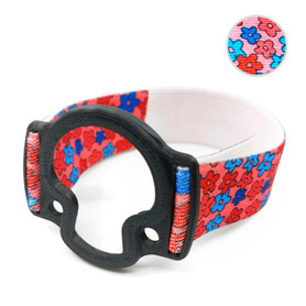 ENLITE Minilink/Guardian armband to protect sensor with transmiter black flowers 3